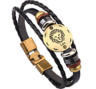 Women/Men Black Fashionable Daily Strand Bracelets