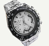 Men's Wrist watch Casual Watch Quartz Alloy Band Silver