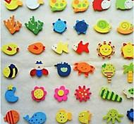 Animais Wall Stickers Autocolantes de Parede Espelho Autocolantes de Frigorífico,wood Material Removível Decoração para casa Decalque