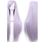80 cm pelucas calor harajuku resistentes de anime cosplay jóvenes largas rectas de la peluca sintética del pelo / pelucas para el anime