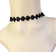 Fashion Black Daisy Lace Choker