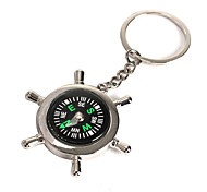 Survival Wheel Ruder Compass with Keychain For Outdoor Camping Hiking Climbing