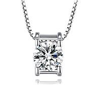 925 collana ciondolo di diamanti cubo delle donne