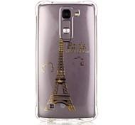 Back Pattern Eiffel Tower TPU Soft Luxury Bronzing Case Cover For LG LG K10 / LG K8 / LG K7