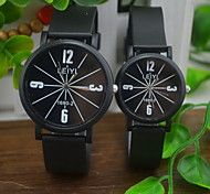 Couple's Casual Rubber Band Quartz Watch