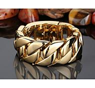 Bracelet Chaînes & Bracelets Acier inoxydable Forme Géométrique Mode Soirée Regalos de Navidad Bijoux Cadeau Doré,1pc