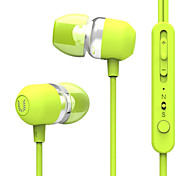 UiiSii U3 In-Ear Earbuds Earphones with Stereo Sound Noise-isolating Mic Control for Smartphone