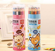 Deli 7015 Color Pencil Cartoon Children'S Painting Barreled 36 Color Pencils Set