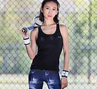 Women's Sleeveless Running Tank Breathable Quick Dry Sweat-wicking Sports Wear Running Black