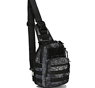 10 L Sling & Messenger Bag Camping & Hiking Outdoor Waterproof Black Nylon