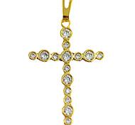 oro rame placcato collana croce (occhiali-intarsiato)