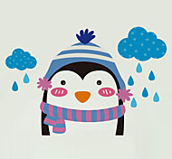 Wall Stickers Wall Decals Style Cute Cartoon Little Penguin Switch PVC Wall Stickers