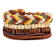 Fashionable Daily 20cm Round Leather Bracelets