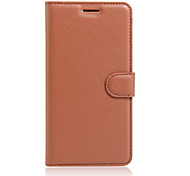 Tuta portafoglio / con supporto / Capovolgere Tinta unita Similpelle Difficile Ultra-thin  Wallet with Stand Flip Solid ColorCopertura di