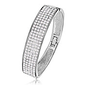 Full diamond jewelry popular in Europe and America exaggerated wide bracelet