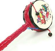 juguete tradicional tambor sonajero auspicioso festival de la mano de la reina 2469 24cm parada del nuevo año