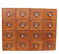 spezielle Holz retro Münze Schlüsselkarte Karte kleine kreative Gitter Dinge und Sachen Desktop-Aufbewahrungsbox