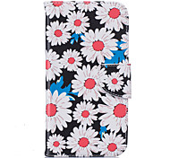 White Chrysanthemum Pattern Card Phone Holster for Moto G4/G4 Plus