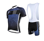 PALADIN® Cycling Jersey with Bib Shorts Men's Short Sleeve BikeBreathable / Quick Dry / Ultraviolet Resistant / Compression / Lightweight