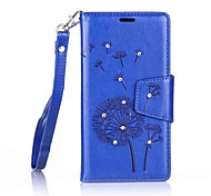 Dandelions Diamond Flip Leather Cases Cover For Nokia Lumia 550/650 Strap Wallet Phone Bags