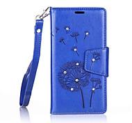 Ganzkörper Brieftasche Löwenzahn PU - Leder Hart Dandelions    Diamond Fall-Abdeckung für Nokia Nokia Lumia 650 / Nokia Lumia 550