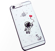 Astronaut Pattern LCD Sense Flash Light Back Cover Case for iPhone 6/6S