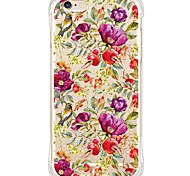 zurück Wasserdichte / Stoßfest / Transparent Blume TPU WeichBack Shockproof/Waterproof/Transparent TPU Soft Flowers Case Cover For Apple