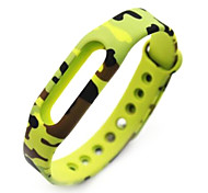 Wristband Bracelet Strap Replacement Parts For Mi band(Camouflage)