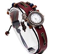 Women's Casual Vintage Leather Band Quartz Watch