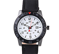 Men's Fashion Watch Water Resistant / Water Proof Quartz PU Band Casual Black