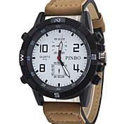 Men's Dress Watch Fashion Watch Wrist watch / Quartz Fabric Band Casual Cool Brown Green Purple Khaki