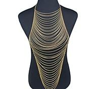 Gioielli per corpo/Catenina da pancia Catena corpo / catena della pancia Placcato in oro Tasselli Oro 1 pezzo