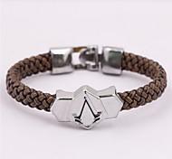 Leather Brown Weave Bracelet