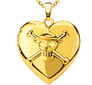 Pendants Metal Heart Shape Gold 50