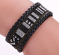 Fashion Korea Velvet Drilling PU Leather Multilayer Bracelet, Alloy Magnetic Clasp #YMG1085