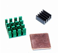 3pcs Cooling Shim Pad Cooler Pure Aluminum Heat Sink Set Kit Radiator for Cooling Raspberry Pi 2 B