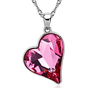 Women's Pendant Necklaces Pendants Crystal Crystal Heart Fashion Yellow Red Pink Jewelry Daily Casual 1pc