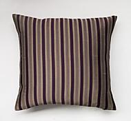Satin Striped Cushion Cover-Purple