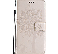 PU Leather Material Cat and Tree Pattern Phone Case for Samsung Galaxy J7(2016)/J7/J5(2016)/J5/J3/G360/G530/J1