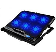 tela de LED 6 fãs mais frio ajustável arrefecimento pad com suporte