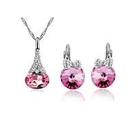 Women's Valentines Present Fashionable Earrings Necklace Set