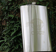 King Stainless Steel Flagon 64 Oz Bottle Flat Kettle Outdoor Portable