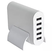 Home Charger For iPad For Cellphone For iPhone 5 USB Ports US Plug White