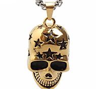 Star Personality Skull Titanium Pendant Necklace