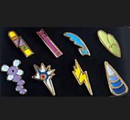poche petit monstre badges Ash Ketchum de la ligue 8 pièces dans une version de jeu d