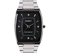 Men's Fashion Watch Quartz Casual Watch Stainless Steel Band Sparkle Charm Cool Silver Multi-Colored Brand