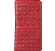 Diamond Pattern Woven Leather Holster Phone Card Can For iPhone 6/6s/6 Plus/6s Plus