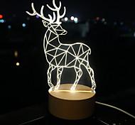 3 D  LED Vision Lamp Gift Atmosphere Desk Lamp  Little Dear Night Light