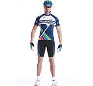 MYSENLAN® Cycling Jersey with Shorts Men's Short Sleeve Bike Breathable / Quick Dry / Waterproof Zipper / Front Zipper / WearableArm