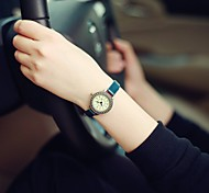 Ladies' Vintage Magic Rome Dial Brass Alloy Thin Leather Strap Wrist Quartz Watch